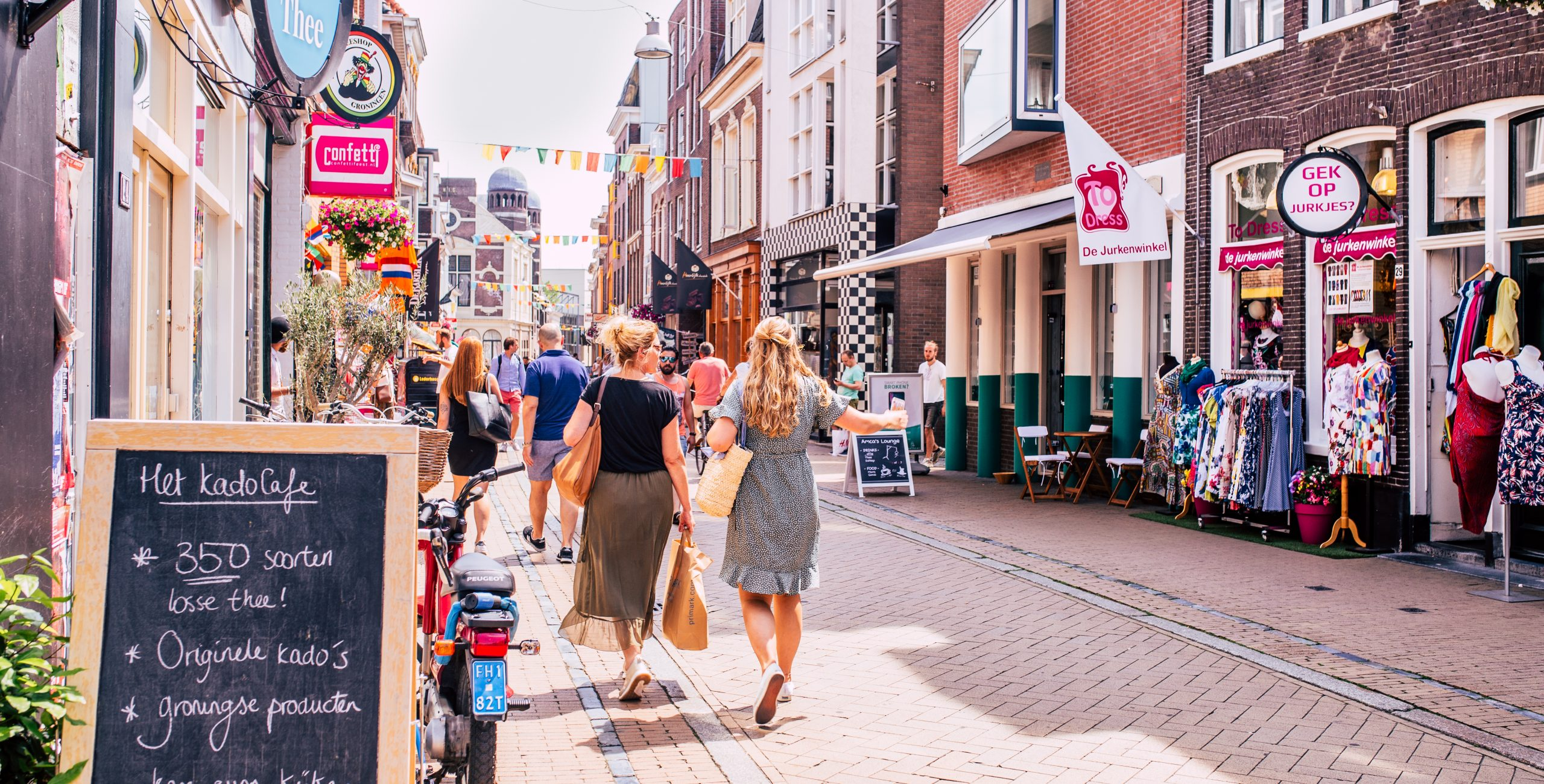Personeelsreis Groningen. Het is heerlijk shoppen met een veelzijdig winkelaanbod!